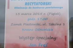 60. Ogólnopolski Konkurs Recytatorski  - etap rejonowy - 13.03.2015